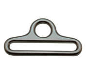 Amanaote Silvery 5.1cm x 0.6cm Inner Oval Dimension with 1.1cm Circular Hole Dia Triangle Buckle for Strap Pack of 4