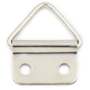 50 pcs 15mm Double Hole Triangle Ring Picture Frame Hanger Strap
