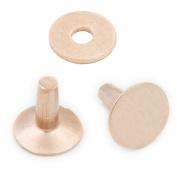 25 pcs 12mm x 12mm x 4mm Solid Copper Rivets & Burrs Permanent Fasteners Gauge Leathercraft Horse Tack