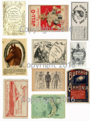 Assorted Vintage Ephemera Vintage Label Images #3 on Collage Sheet for Photo Art, Scrapbooking, Collage, Decoupage