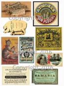 Assorted Vintage Ephemera Vintage Label Images #2 on Collage Sheet for Photo Art, Scrapbooking, Collage, Decoupage