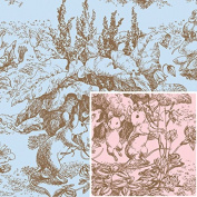 Baby Toile Pink/Blue Reversible Wrapping Paper Roll - 9.3sqm