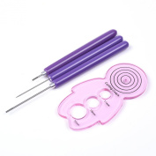 BCP 2pcs Different Size Quilling Slotted Tools and 1pcs Awl and 1pcs Quilling Curling Coach