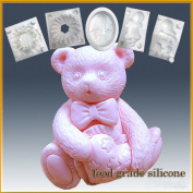 Bearheart- Detail of High Relief Sculpture - Silicone Soap/sugar/fondant/chocolate/marzipan 2d Mould