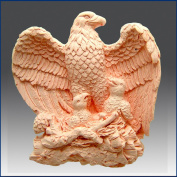 Majestic Eagle with Chicks - Detail of High Relief Sculpture - Silicone Soap/polymer/clay/cold Porcelain Mould