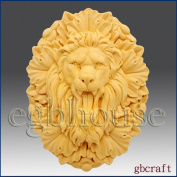 Roaring Lion King - Detail of High Relief Sculpture - Silicone Soap/polymer/clay/cold Porcelain Mould