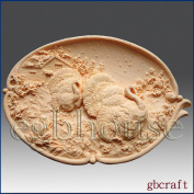 Thanksgiving Turkey Platter - Detail of High Relief Sculpture - Silicone Soap/polymer/clay/cold Porcelain Mould