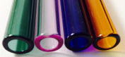 NEW 12 mm OD 8mm ID Pyrex Glass Blowing 4 Colour Blue,Amber,Green,Pink 8""