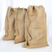 3 Pack - 12 X 20 Burlap Drawstring Gunny Sack Gift Bag By Jubilee Creative Studio