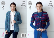 King Cole Ladies Gypsy Super Chunky Knitting Pattern Short or Long Sleeved Cardigans