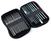 Knitting Essentials Crochet Hook Set in Case- 24 pieces
