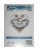 1990 Lynn Craft Paper Pockets No 50-329 Stitch Kit - Monograms