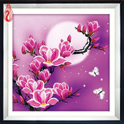 YGS-39 New 5D Magnolia flowers Home Decoration DIY Painting Embroidery Kit Round Diamond Painting Cross Stitch Stickers diamond