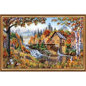 """Beaded DIY Embroidery Kit """"Watermill"""""""