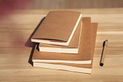 Brown Kraft Cover Sketchbook / Journal / Diary / Note Book With Blank White Paper (32K
