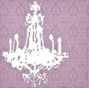 Panorama Pink Chandelier Canvas Art