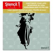 Stencil1 Angel 15cm X 15cm
