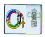 KIDDEE ROSARY SET W/GUARDIAN ANGEL ROSARY