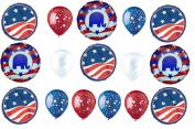 Republican Party Balloon Decoration Kit - 16 Balloons for 2016 Election