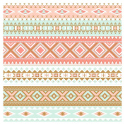 Navajo Aztec Tribal 1 Vinyl Sheets Heat Transfer Vinyl 006-10-HT
