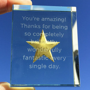 Spaceform Token Glass Gold Star You're Amazing 2029