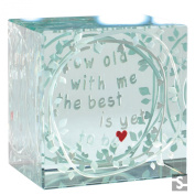Spaceform Layered Paperweight Grow Old With Me 1885