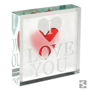 Spaceform Medium Paperweight Window I Love You 1869