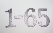 10cm double-sided Glitter Silver Chipboard Table Numbers for Wedding / Banquets