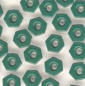 Bulk Rate 0.3cm GreenTop Painted Hexagon Aluminium Eyelets - 500 Pack