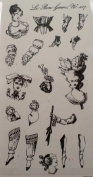 STAMPINGTON & CO LE BON GENRE PAPER DOLL COLLECTION CLING RUBBER STAMP #7325