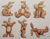 STAMPINGTON & CO LITTLE BITS TINY TEDDY BUNNIES RUBBER STAMP CUBE BLOCK #G1401