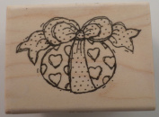 Stampington And Co Heart Egg Get Well Love Easter Wooden Rubber Stamp #K5225