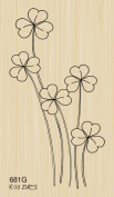 Tall Shamrocks Rubber Stamp By DRS Designs Rubber Stamps