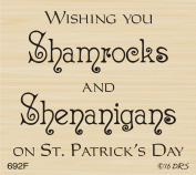 Shamrocks & Shenanigans Greeting Rubber Stamp By DRS Designs Rubber Stamps