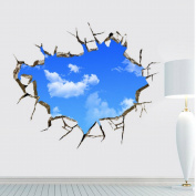 Dolphin 1 3D wallpaper bedroom ceiling painting white clouds in blue sky 70*90cm