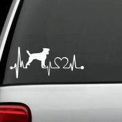 K1061 Jack Russell Terrier Heartbeat Lifeline Dog Decal Sticker