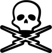 Deathproof Grindhouse Skull Vinyl Decal Sticker- 30cm Tall Matte White Colour