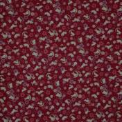 Furoshiki Wrapping Cloth Red Rabbits, Crescent Moons and Sakura Motif Japanese Fabric 50cm