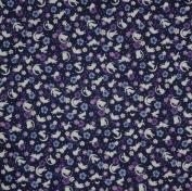 Furoshiki Wrapping Cloth Navy Rabbits, Crescent Moons and Sakura Motif Japanese Fabric 50cm