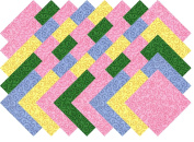 Tilt A Whirl Brights Blender Collection 40 Precut 13cm Quilting Fabric Squares