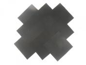 "10 25cm Beautiful Black ""Dream Cotton"" Solids Layer Cake Quilting Fabric Squares"