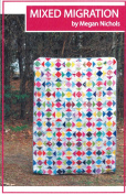 Mixed Migration Quilt Pattern Scrap Happy Stash Buster Friendly, 5 Finished Size Options