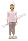 (PS-D2/D02+WG-M10-30A) ROXY DISPLAY® Plastic Child Mannequin. 5-6 Years old, standing pose. Turnable arms,removable and turable head with One free Wig.