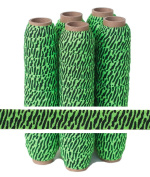 5 Yards of 1.6cm Green and Black Zebra - Fold Over Elastic - ElasticByTheYardTM