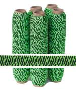 5 Yards of 1.6cm Green and Black Zebra - Fold Over Elastic - ElasticByTheYardTM