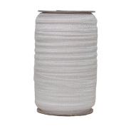 100 Yards of Silver 1.6cm Fold Over Elastic - ElasticByTheYardTM