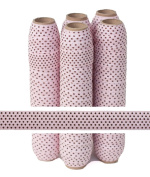 5 Yards of 1.6cm Small Brown Dots on Pink Fold Over Elastic - ElasticByTheYardTM