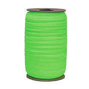 100 Yards of Neon Green 1.6cm Fold Over Elastic - ElasticByTheYardTM
