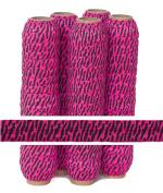 5 Yards of 1.6cm Hot Pink Zebra Fold Over Elastic - ElasticByTheYardTM