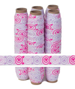 5 Yards of 1.6cm Hearts Bullseye Valentine Fold Over Elastic - ElasticByTheYardTM